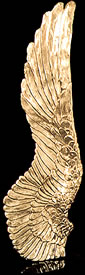 Wing Golden Bronze Sculpture
